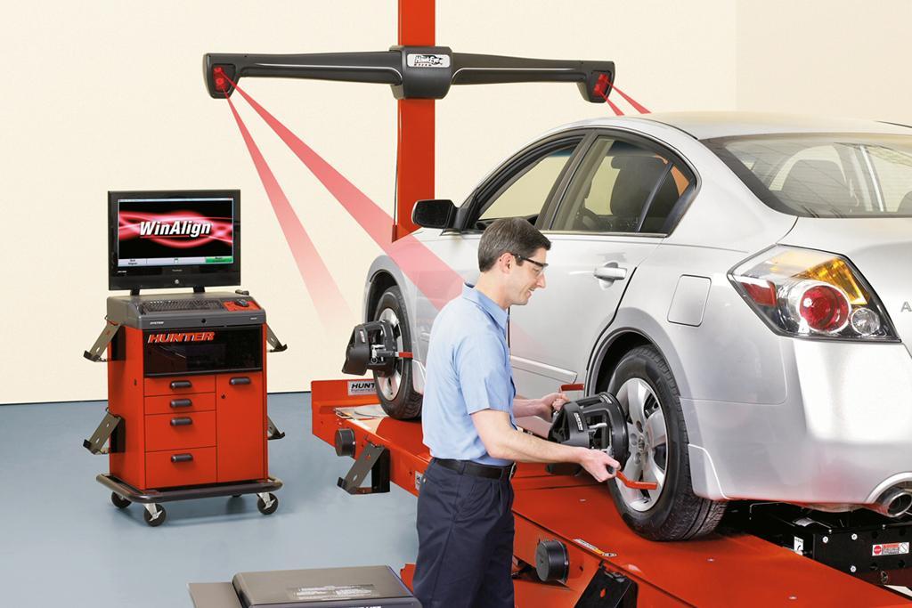 Hệ thống cân chỉnh độ chụm cho xe con