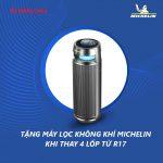 Khuyến mại lốp Michelin 2021 – Tặng máy lọc không khí, gối tựa Michelin